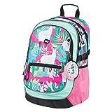 Baagl Schulrucksack für Mädchen - Schulranzen für Kinder mit ergonomisch geformter Rücken, Brustgurt und reflektierende Elemente (Lamas)