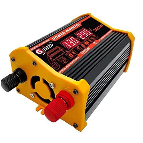 POWER-omvormer 300W Auto DC 12V tot 110 V AC-omvormer met dubbele USB-autoladeradapter LED DisplayUSB Autoader Adapter…