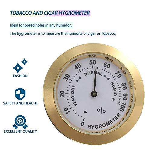 deYukiko messing analoge hygrometer sigaar tabak vochtmeter & glazen lens voor humidore