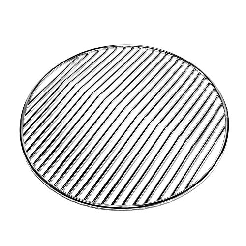 Grill Factory - Stainless steel Round Charcoal Grate 10.4 inch for replacement of Smokey Joe Weber Charcoal grill grate Portable Charcoal Grill Parts at fireplace of Korean BBQ Grill grate