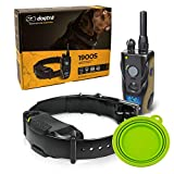 Dogtra 1900S E Collar - 3/4 Mile Remote Trainer with LCD Screen - Fully Waterproof Collar - Bonus Imprinted eOutletDeals Collapsible Pet Travel Bowl