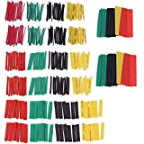 Tubo termorretráctil 2:1, 328 piezas de protección de aislamiento ignífugo, funda de cable retráctil, 4 colores, 8 tamaños