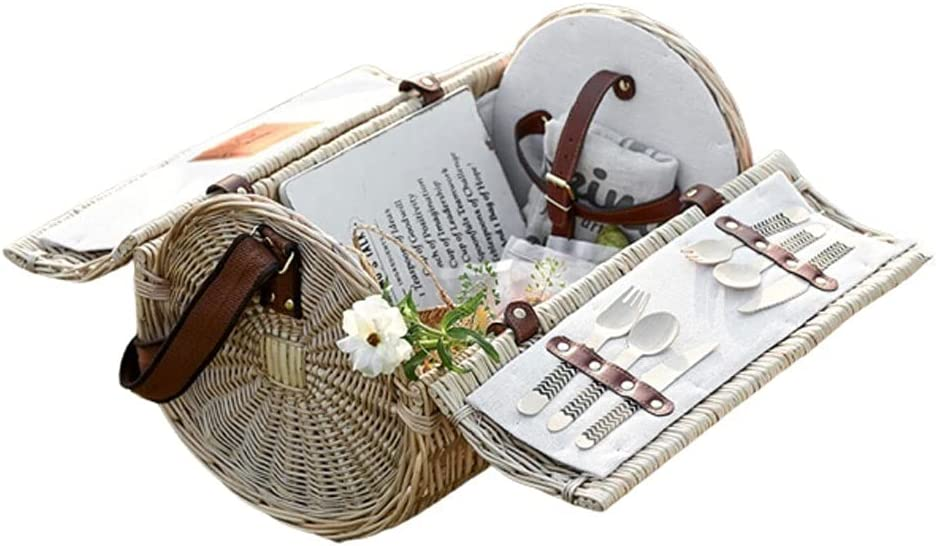 Cylinder Tucson Mall Picnic Basket In a popularity Natural Rattan Hamper Outdo Willow