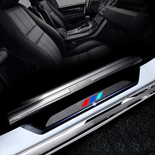 M Styling Battitacco Auto Esterno Batticalcagno per E36 E46 E90 E91 E92 E93 Adesivi delle Soglie delle Porte in Fibra di Carbonio 4 Pezzi
