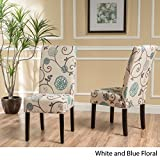 Christopher Knight Home Pertica Dining Chair Set, White/Blue Floral