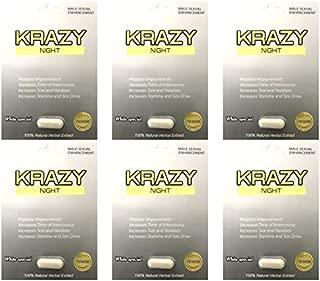 Nuri Krazy Night White Best Fast Acting Long Lasting Male Enhancing Pills (6 Pills)
