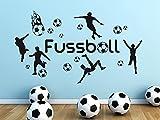 GRAZDesign Wandsticker Wanddeko Jugendzimmer Junge Fussball