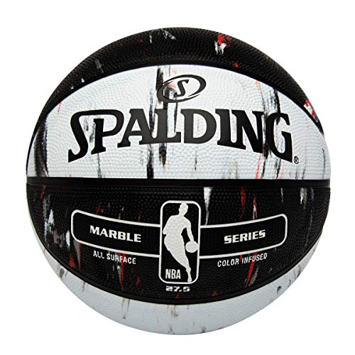 Spalding NBA Marble Series Red/Black/White Outdoor Basketball 27.5'