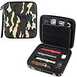 camo design apple watch band storage case
