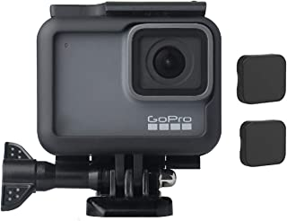 TERSELY[5IN1] Frame + 2 Pack Camera Lens Cap Cover for GoPro 2018 Hero 7 Black/6/5 Housing Border Protective Shell Case Ac...