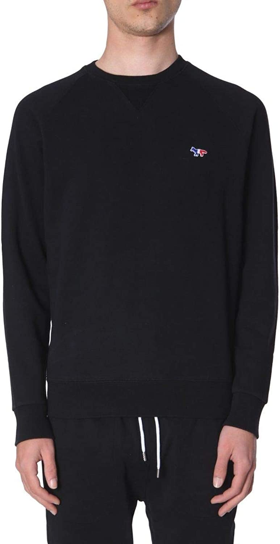 MAISON KITSUNé Men's AM00302KM0002BLACK Black Cotton Sweatshirt