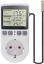 KETOTEK Digital Termostato Enchufe Calentamiento Enfriamiento con Sonda 220V, Controlador de Temperatura Enchufe Momento Cuenta Regresiva para Incubadora Invernadero Acuario Reptil