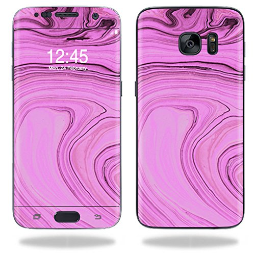 MightySkins Skin Compatible with Samsung Galaxy S7 Edge wrap Cover Sticker Skins Pink Thai Marble