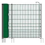 VOSS.farming Filet volaille Premium Classic 50 m H : 112 cm 20 piquets Double Pointe clôture électrique