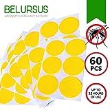 BELURSUS - Patch Anti-moustiques - 100% Naturel refermable - Stickers personnels pour Adultes et Enfants - Protection 24 H Contre Les Insectes - 60 pièces de 3 cm chacun - Clips Jaunes