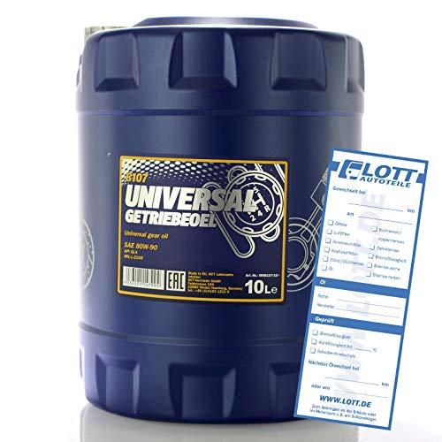 MANNOL MN8107-10 Universal Getriebeoel 80W-90 API GL 4, 10 Liter