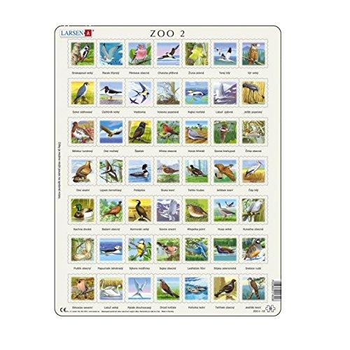 Larsen puzzel - Zoo 2, vogels (quiz-puzzel): Larsen puzzels