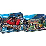 Playmobil Pirates Playset Barco Pirata Calavera, Multicolor (70411) + Pirates Escondite Pirata, A Partir De 5 Años, 70414