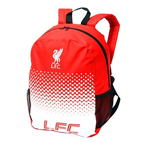 Liverpool FC - Mochila oficial con logo de Liverpool FC (Talla Única/Rojo/Blanco)