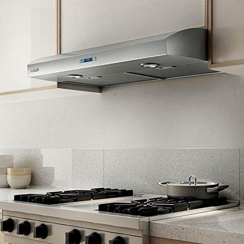 "EBL430SS 30"" Aspire Series Bellagio Under Cabinet Hoods with 430 CFM Internal Blower, 2 Dishwasher-Safe Aluminum Mesh Filters, HeatGuard Sensor, 4 Fan Speeds, and 2 Halogen Lights: Stainless Steel"