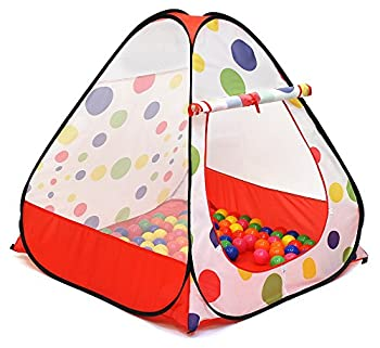 Kiddey Ball Pit Play Tent - Pops Up No Assembly Required - Use as a Ball Pit or Indoor/Outdoor Play Tent Comes with Convenient Carry Bag for Easy Travel and Storage Great Gift Idea Balls Not Included