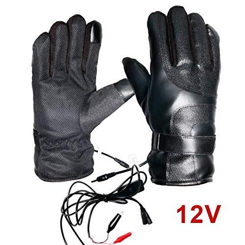 Verwarmde handschoenen voor mannen en vrouwen, elektrisch verwarmde handschoenen voor de winter, warme handschoenen, motorhandschoenen met verwarming 12 V.