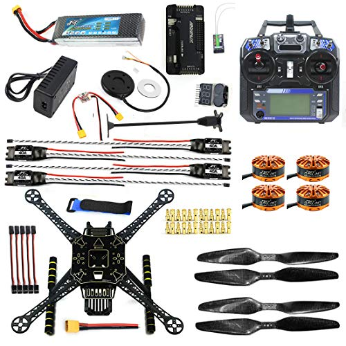 CS PRIORITY DIY GPS Drone Racer APM 2.8 Flight Controller S600 4-Axis Unassembled Quadcopter Kit with Landing Gear FS-I6 Transmitter Battery