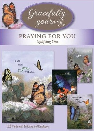 Gracefully Yours Uplifting You - Praying for You Greeting Cards Featuring Larry Martin, 12, 4 Designs/3 Each with Scripture Message