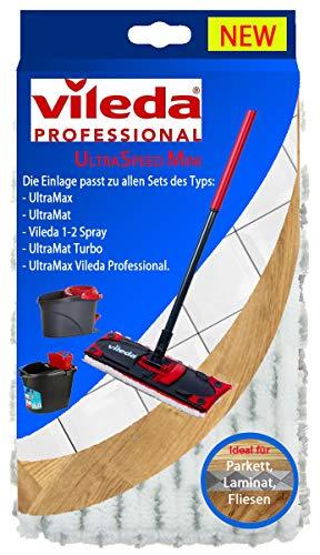 Vileda Professional UltraSpeedMini Microvezel vervangende hoes I Vileda vloerwisser voor tegels laminaatparket I Vileda Ultramax dweilhoes voor harde vloeren en vloerpanelen I 1stuk