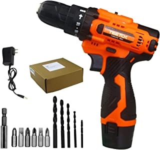 Sponsored Ad – Cordless Drill Driver, 12V Combi Drill Set Built-in LED Work Light, Electric Screwdriver with 1500mAh Batte...