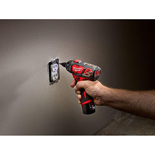 Milwaukee 2401-22 M12 12-Volt Lithium-Ion 1/4 in. Hex Cordless Screwdriver Kit