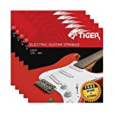 Tiger - Cuerdas para guitarra eléctrica – Pack de 5 juegos de luces (10-46)