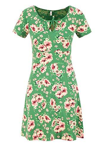 Blutsgeschwister Kleid Sunshine Boulevard Dress Mini-Kleid Sommerkleid Kurzarm Grün L