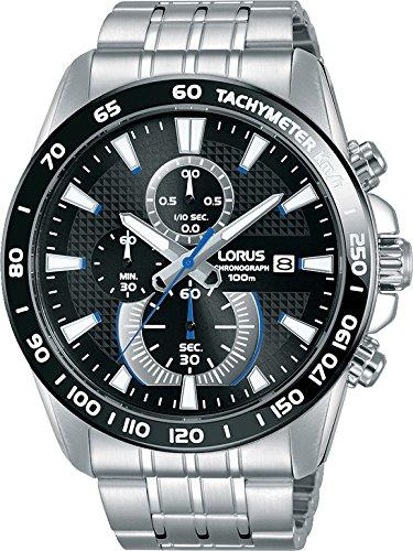 Lorus Sport Herren-Uhr Chronograph Edelstahl mit Metallband RM383DX9