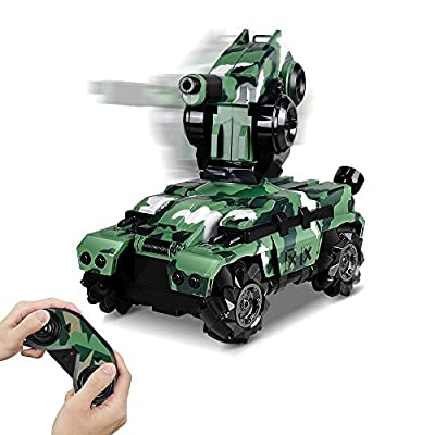 RC Tank Car 12In Waterproof with 180° Rotating...