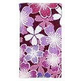 小紋工房 エチケットミラー 舞桜(紫) 二越ちりめん 京都 和KOMONO 江戸小紋 0802
