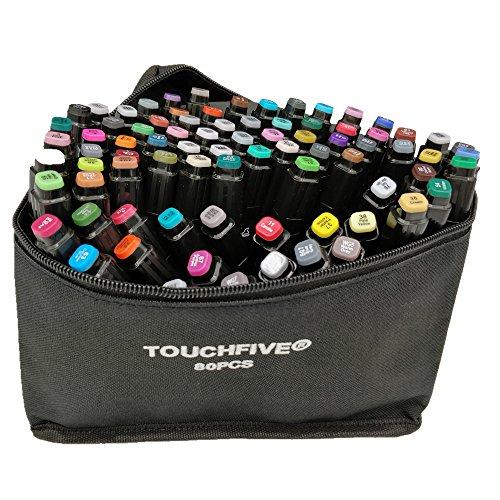 Touchfive Marker 80er Set Touch Brush Marker Schwarz neue Generation gemeinsam