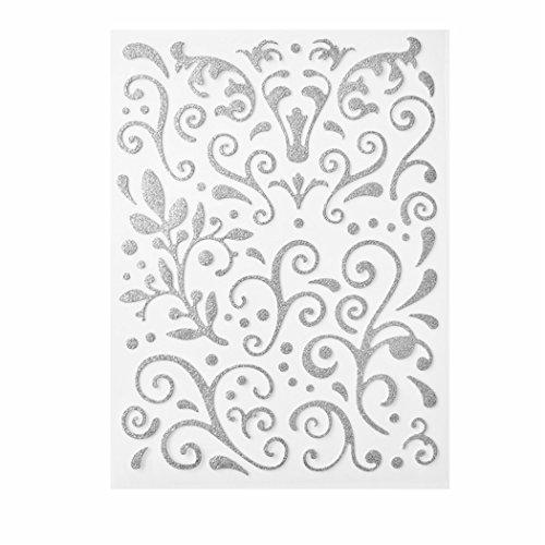 Preisvergleich Produktbild Ornamente selbstklebend silber 67 Stück