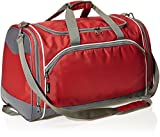 Amazon Basics - Sporttasche, Größe S, Rot