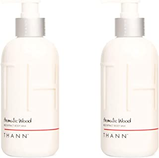 THANN Aromatic Wood Rice Extract Body Milk with Rice Bran Oil, Orange, Tangerine and Nutmeg Oils 320 ml. (2 Pack)