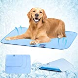 Pet Cooling Mat for Dogs Cats, Avoalre Summer Sleeping Dog Cooling Mat with Humidity Indicator Card, Non-Slip Bottom, Foldable and Washable & Reusable Arc-Chill Dog Cooling Pee Pad for Indoor Outdoor