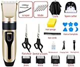 At Home Haircut Machine Retro Cordless USB Rechargeable Hair Clipper & Trimmer Coded Guide Combs for Men, Women & Children