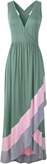 JollieLovin Women Plus Size Maxi Dresses Summer Maxi Dresses Casual Deep V Neck Long Dresses Sleeveless Tank Maxi Dresses ...