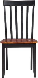 Boraam Bloomington Dining Chair, Black/Cherry, Set of 2
