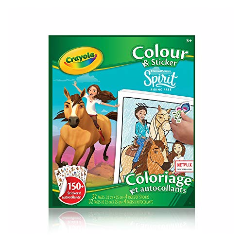 Crayola - Colour & Sticker Book Spirit Riding Free