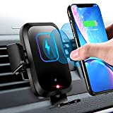 Wireless Car Charger Mount 10W/7.5W Qi Fast Charging Sensor Auto-Clamping Air Vent Car Phone Holder...