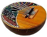 Kalimba dipinto a mano, Mbira Ø circa 16 cm