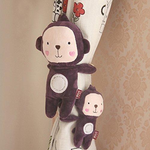 Yujiao Mao 1 Paar Mutter und Kind Cartoon Fenster Vorhang Raffhalter Gardinenhalter Raffhaken, AFFE
