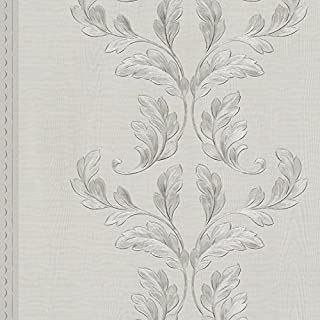 58253 - Classique Pewter Leaf Trails Galerie Wallpaper