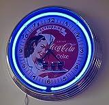 zeropoint.de Reloj con Neon Pinup Refreshing Coca Cola Neon Azul Reloj